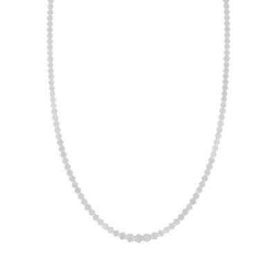 14kt White Gold Womens Round Diamond Cluster Fashion Necklace 10 Cttw