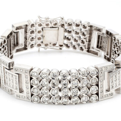 Bracelet in 14K WG w/ Round diamonds D11.75ct.t.w.