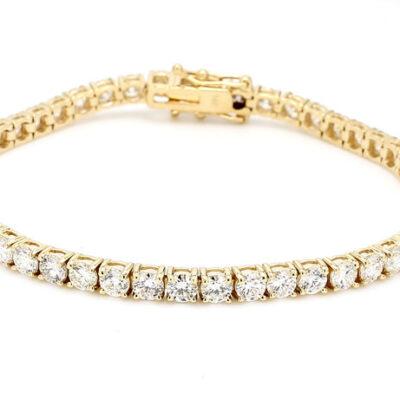 """7"""" Tennis Bracelet in 14K YG w/ Round diamonds D8.00ct.t.w."""