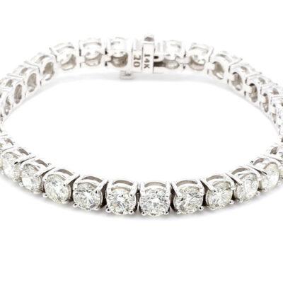 Tennis Bracelet in 14K YG w/ Round diamonds D16.54ct.t.w.