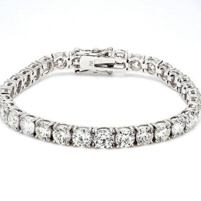 """7.5"""" Tennis Bracelet in 18K WG w/ Round diamonds D19.35ct.t.w."""