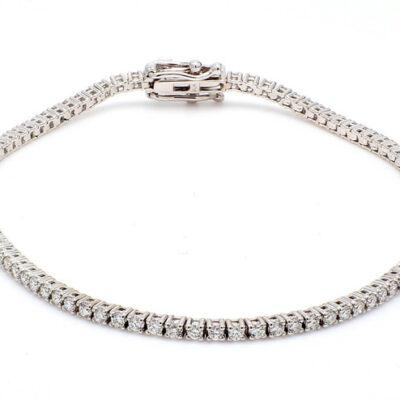 """7.25"""" Tennis Bracelet in 14K WG w/ Round diamonds D1.54ct.t.w."""