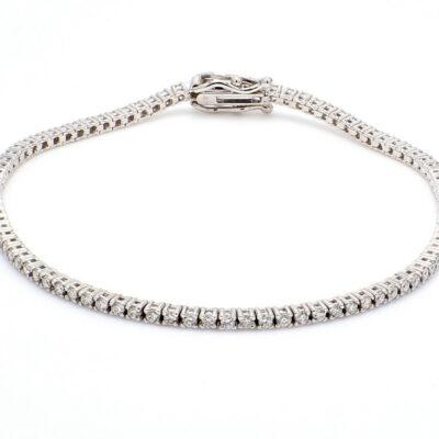 """7"""" Tennis Bracelet in 14K WG w/ Round diamonds D1.43ct.t.w."""