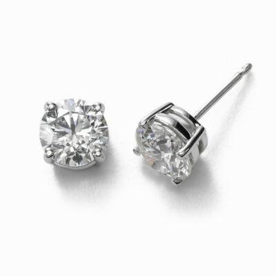 Stud Earrings in 14K WG w/ Round diamonds D0.75ct.t.w.
