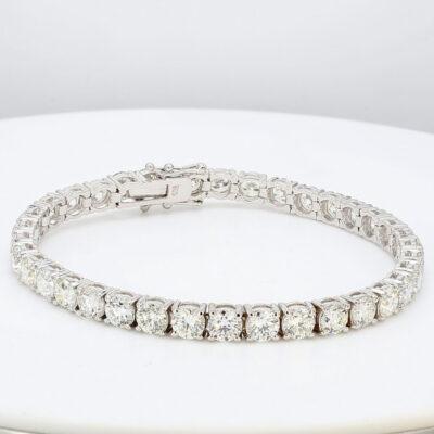 """7"""" Tennis Bracelet in 18K WG w/ Round diamonds D14.61ct.t.w."""