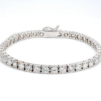 """7"""" Tennis Bracelet in 14K WG w/ Round diamonds D10.31ct.t.w."""