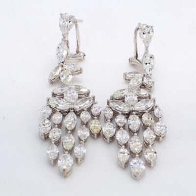 Chandelier Earrings in 18K WG w/ Marquise diamonds D12.41ct.t.w.