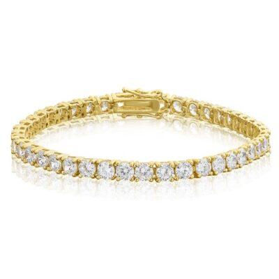 """7"""" Tennis Bracelet in 14K YG w/ Round diamonds D11.25ct.t.w."""