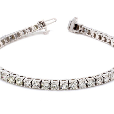 """7"""" Tennis Bracelet in 14K WG w/ Round diamonds D6.50ct.t.w."""
