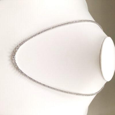 """17"""" Tennis Necklace in 18K WG w/ (174) Round diamonds. D7.25ct.t.w."""