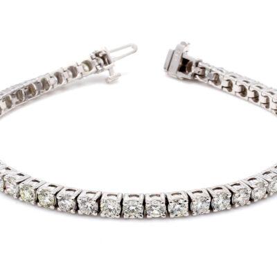 """7"""" Tennis Bracelet in 14K WG w/ Round diamonds D8.61ct.t.w."""