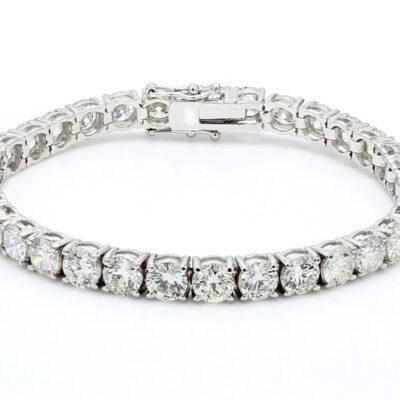 """7.5"""" Tennis Bracelet in 14K WG w/ Round diamonds D13.04ct.t.w."""