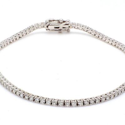 """7.5"""" Tennis Bracelet in 14K WG w/ Round diamonds. D2.85ct.t.w."""