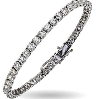 """7"""" Tennis Bracelet in 14K WG w/ Round diamonds D3.41ct.t.w."""