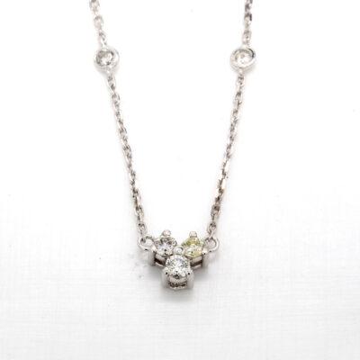 """16"""" Diamonds By The Yard Necklace in 14K WG w/ Round diamonds D0.51ct.t.w."""