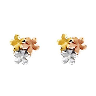 14K FLOWER EARRINGS