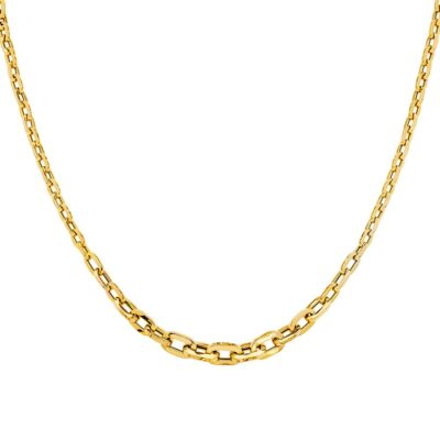 14KY Fancy Graduated Hollow Necklace