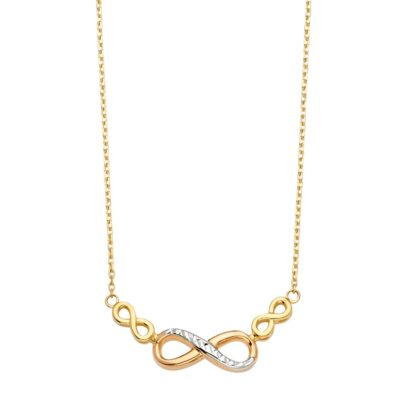 14KY Infinity Light Chain Necklace