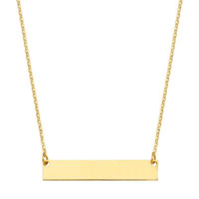 14K Plain ID Chain Necklace