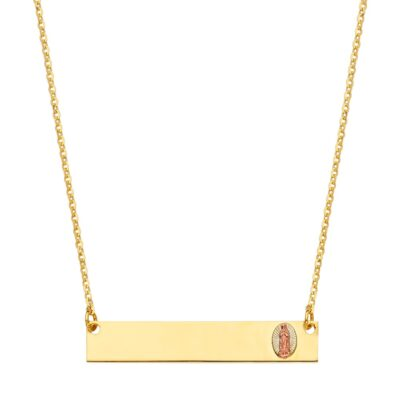 14K ID w/ Guadalupe Chain Necklace