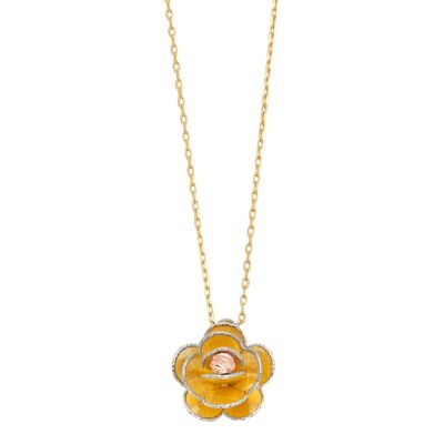 14KY Flower Light Chain Necklace