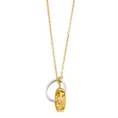 14K 2tone Light Chain Necklace w/Eternity