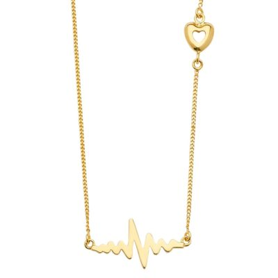 14K Heartbeat Chain Necklace