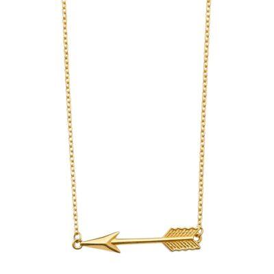 14K Arrow Light Chain Necklace