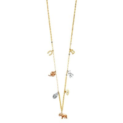 14K 3C LUCKY CHAIN NECKLACE
