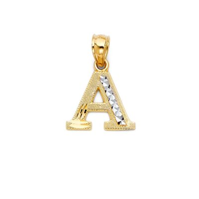 """14KY INITIAL PENDANT """"A"""""""