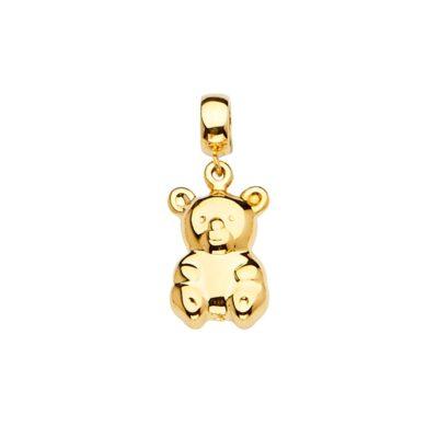 14KY Bear Charm  for Mix&Match Bracelet
