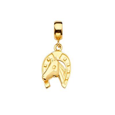 14KY Horse Shoe Charm for Mix&Match Bracelet