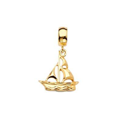 14KY Boat Charm for Mix&Match Bracelet