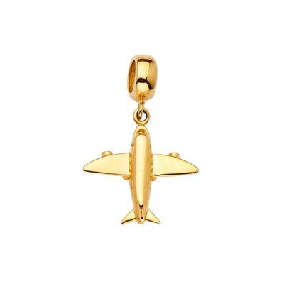 14KY Air Plane Charm for Mix&Match Bracelet