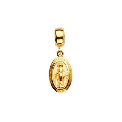 14KY Virgin Mary Charm for Mix&Match Bracelet