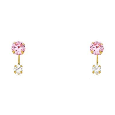 14K STUD EARRINGS (ST383)