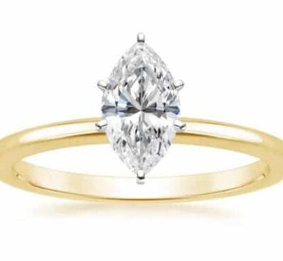 1.51 ct. Marquise Diamond Solitaire Set Engagement Ring in Yellow Gold