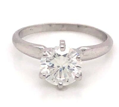 1.55 ct. Round Cut Diamond Engagement Ring in 14k White Gold