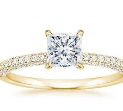 1.45 ctw. Princess Cut Diamond Ring in 14k Yellow Gold