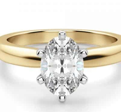 1.53 ct. Oval Cut Diamond Ring Set In a 14k Yellow Gold Setting
