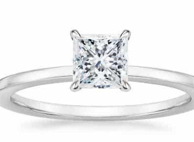 1.72 ct. Princess Cut Diamond Ring in 14k White Gold