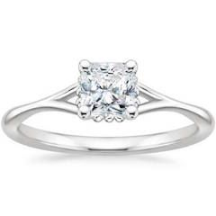 0.75 ct. Radiant Cut Diamond Ring in 18k White Gold