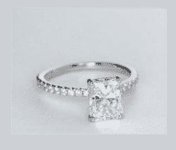 1.88 ctw. Radiant Cut Diamond Engagement Ring