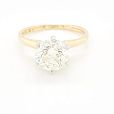 2.03 ct. Round Cut Diamond Solitaire Engagement Ring