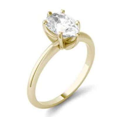 2.20 ct. Pear Cut Diamond Ring set in 14kt Yellow Gold