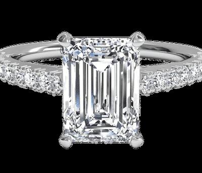 2.47 ctw. Emerald Cut Diamond Ring in 14k White Gold