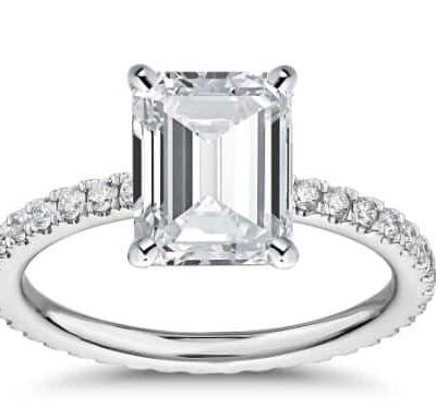 1.43 ctw. Radiant-Cut Diamond Engagement Ring in 14k White Gold