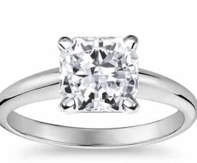 3.17 ct. Princess Cut Diamond Solitaire Ring in 14k White Gold