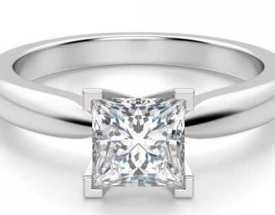 2.02 ct. Princess Cut Diamond Solitaire Ring in 14k White Gold