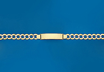 """8"""" Italian Mens ID Bracelet Available in 10Kt and 14Kt"""